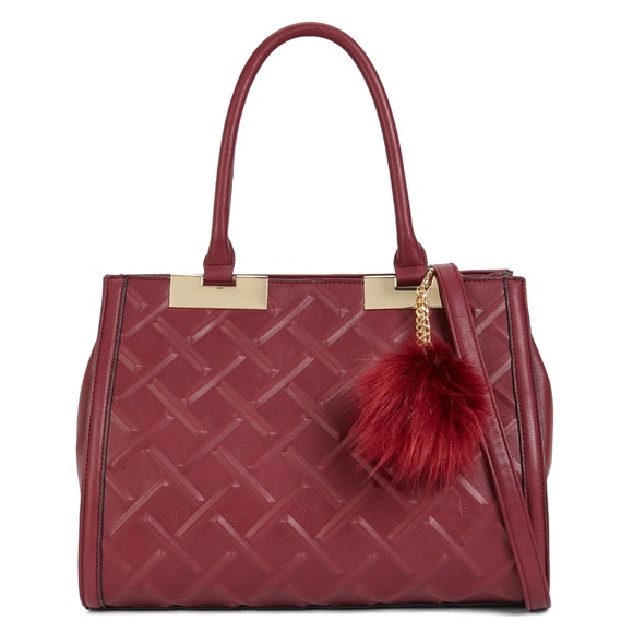 6ce8cf66699 ALDO Satchel Handbag Glossy Bordeaux